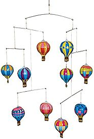 Schylling Tin Hot Air Balloon Mobile Toy