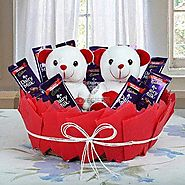 Send Cute Basket Of Surprise Same Day Delivery - OyeGifts