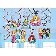 Disney Princess Dream Big Party Foil Hanging Swirl Decorations / Spiral Ornaments (12 PCS)- Party Supply, Party Decor...