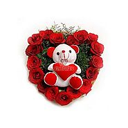 Buy/Send Roses N Soft Toy - Bouquet Online Same Day Delivery - OyeGifts.com