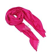 Order Dark Pink Stole Online Same Day Delivery - OyeGifts.com