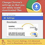 Download Settings in Chrome