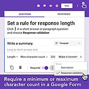 Response Length Rule in Forms