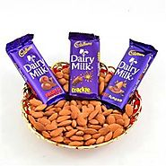 Buy/Send ALMOND AND DAIRY MILK HAMPER - YuvaFlowers