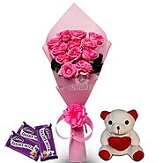 Send Pretty Pink hamper Online Same Day Delivery - OyeGifts.com