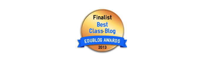 Headline for Best Class Blog 2013 - Edublog Awards
