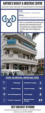 Best Urologist in Punjab - Kapoor Kidney and Urostone Centre
