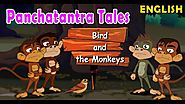 Bird and the Monkeys | Panchatantra Stories in English | Bedtime Fables for Kids with Subtitles