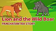 Lion and the Wild Boar | Panchatantra English Moral Stories For Kids | Best Of Aesop fable