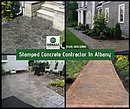 Stamped Concrete Contractor In Albany