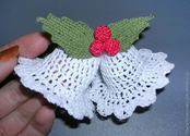 christmas ideas: christmas bells and holly berry tutorial | make handmade, crochet, craft