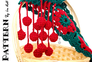 Jingle Bells Christmas Festive Holiday Scarf Free Crochet Pattern PDF pattern by Ira Rott