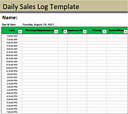 Sales Log Templates | 2+ Free Word & Excel | Free Log Templates