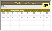 Workout Log Template | Download in MS Word | Free Log Templates