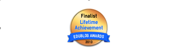 Headline for Lifetime Achievement 2013 - Edublog Awards