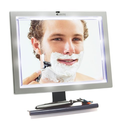Pivoting Deluxe LED Fogless Shower Mirror with Squeegee