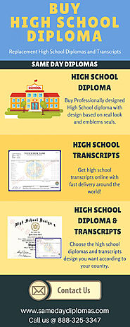 Buy High School Diploma | Visual.ly