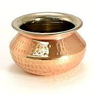 HAMMERED COPPER PUNJABI HANDI (SERVING BOWLS)