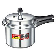 PRESTIGE POPULAR PLUS 5 LITER ALUMINUM BODY PRESSURE COOKER 5 LITRE