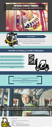 Take Your Career to the Next Higher Level in Forklift Field