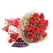 Send Flower Combo Online Same Day Delivery - OyeGifts.com