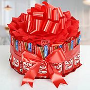 Send Sweet KitKat Bouquet Same Day Delivery - OyeGifts