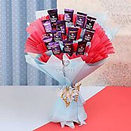 Buy / Send Dairy Milk Bouquet Online Gifts online Same Day & Midnight Delivery across India @ Best Price | OyeGifts