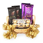 Send Feast of Chocolates Hamper Same Day Delivery - OyeGifts