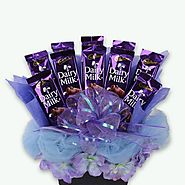 Buy/Send Dairy Milk Hamper - YuvaFlowers