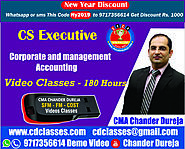 Website at https://cdclasses.com/subject-cs-executive/1001/cs-executive-corporate-and-management-accounting