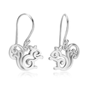 925 Sterling Silver Adorable Squirrel Hook Earrings (3/4 inch) Fashion Jewelry for Women, Teens, Girls - Nickel Free