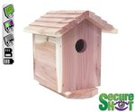 SecureShot NightVision Cedar Bird House Surveillance Camera/DVR with 1 Year Battery