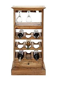 BENZARA/WOODLAND IMPORTS SLEEK WOOD 9-BOTTLE WINE RACK ($199.00)