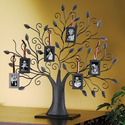 BRONZE FAMILY TREE PICTURE FRAME - BRONZE FAMILY TREE WITH 6 HANGING PICTURE ...