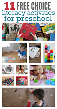 11 Literacy Activities For Preschool Free Choice Time - No Time For Flash Cards
