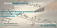 Mathematics Assignment Writing Service