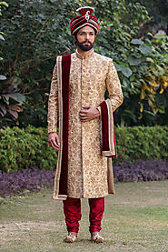 Exclusive Range of Wedding Sherwani for Men online at Manyavar