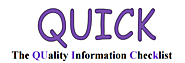QUICK The QUality Information Checklist