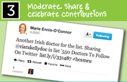Moderate, Share & Celebrate Contributions