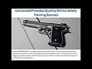 Concealed Provides Quality Online Safety Training Courses