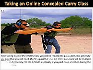Taking an Online Concealed Carry Class