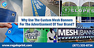 Use of Custom Mesh Banners for Brand Advertisement