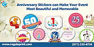 Anniversary Stickers can Make Your Event Most Beautiful and Memorable