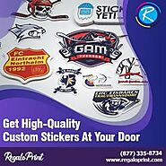 Get High-Quality Custom Stickers At Your Door – RegaloPrint