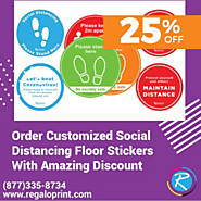 Get Customized Social Distancing Floor Stickers