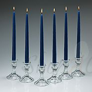 Taper Candles | Dripless Cobalt Blue Taper Candles At Shopacandle