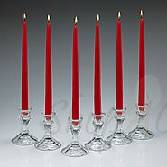 Online Unscented Dripless Soft Wine Red Taper Candles | Shopacandle