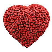Send Heart With 500 Roses Online Same Day Delivery - OyeGifts.com