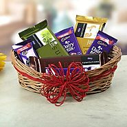 Buy/Send A Basket Of Sweet Treat - YuvaFlowers