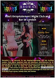 Fully Licensed Adult Entertainment Night Club and Bar in London